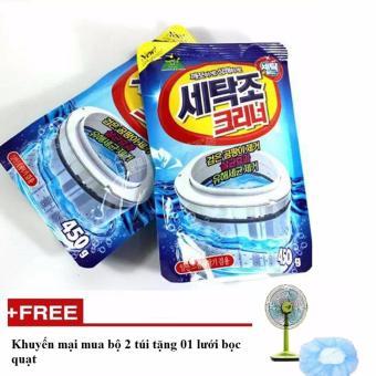 Bộ 2 túi vệ sinh lồng giặt Sandokkaebi Hàn Quốc tặng 01 lưới bọc quạt - STTT