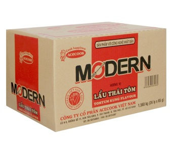 Thùng 24 ly mì Modern vị lẩu thái tôm