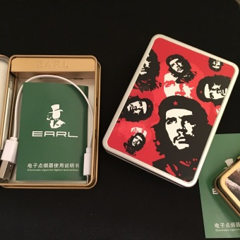 Hộp thuốc lá gắn bật lửa điện sạc USB mẫu Celebrity F8