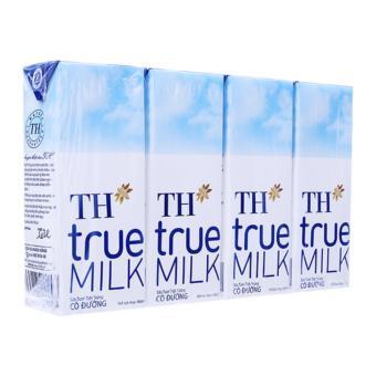Bộ 6 Lốc 4 Hộp Sữa TH True Milk Có Đường 180ML