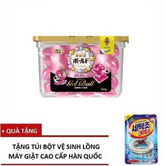 Hộp 18 Viên Nước Giặt Và Xả Gel Ball Hồng – Sản Xuất Tại Nhật Bản + Tặng Bột Vệ Sinh Lồng Giặt Hàn Quốc