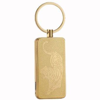 Bật lửa móc khóa sạc điện qua cổng USB D-614A (Vàng đồng)
