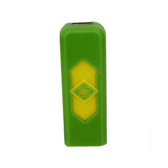 Hộp quẹt sạc điện usb nút chữ s (Xanh lá).