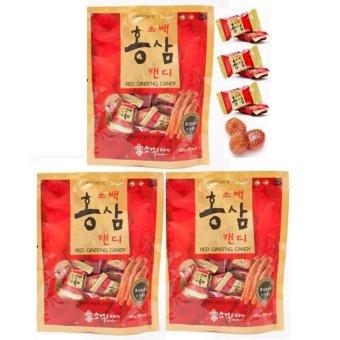 Bộ 3 gói Kẹo Sâm Sobaek Hàn Quốc 200g/gói