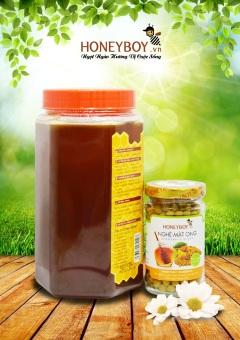 Bộ Mật ong thiên nhiên 1Kg và Nghệ Mật ong 80g