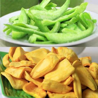 Bộ 2 gói, Mít sấy giòn(200gr) và Mứt vỏ bưởi đặc sản Thái Lan(200gr)