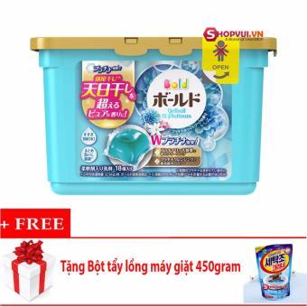 Viên Nước Giặt Và Xả 2 Trong 1 Gel Ball (Xanh) – Nhật Bản + Tặng Bột Tẩy Lồng Giặt Hàn Quốc