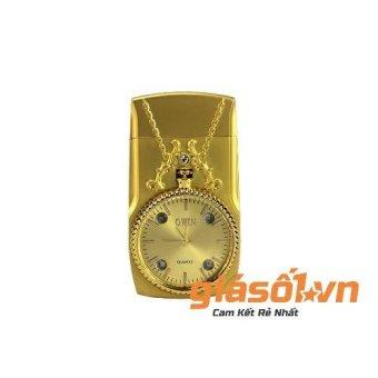 Bật lửa ga kiêm Đồng hồ vàng Giá Số 1 (Vàng)