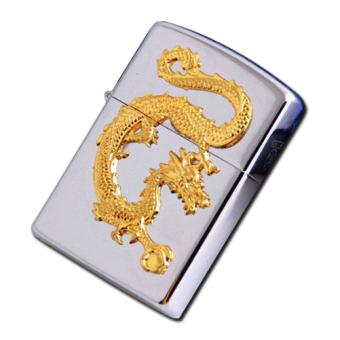 Bật Lửa Đá Xăng Rồng Vàng Phương Đông Đúc Nổi