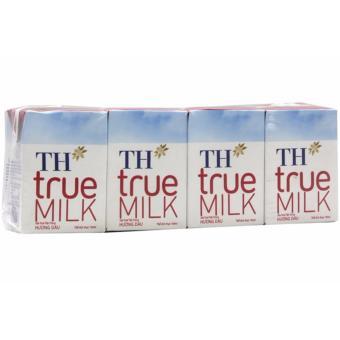 Bộ 48 Hộp Sữa Tươi Tiệt Trùng TH True Milk Hương Dâu 110ML