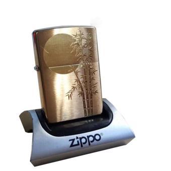 Bật Lửa Zippo Hình Trăng Trúc (Vàng)