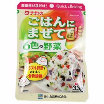 Gia vị rắc cơm rau củ 6 màu (Tanaka) 33g