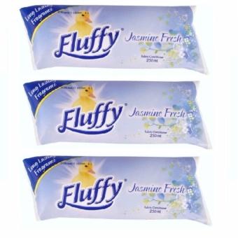 Bộ 3 túi xả vải siêu đậm đặc Fluffy hương hoa nhài -250mlx3 - Úc