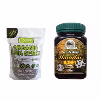 Hạt chia Organic Chia Seeds Australia 1kg và Mật Ong Bee Manuka 30+MG Blend 500g