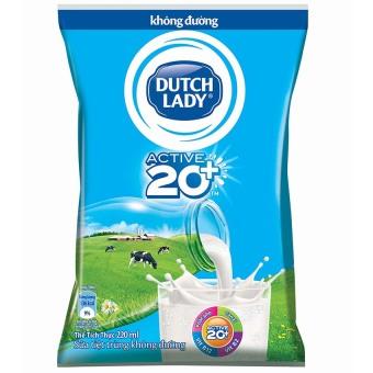 Thùng 48 bịch sữa tươi tiệt trùng Dutch Lady không đường 220ml