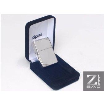 Bật lửa Zippo bạc khối chặt góc