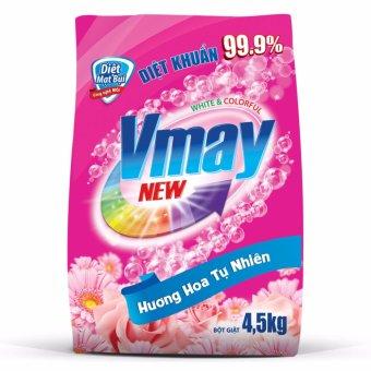 Bột giặt Vmay hương hoa 4.5kg