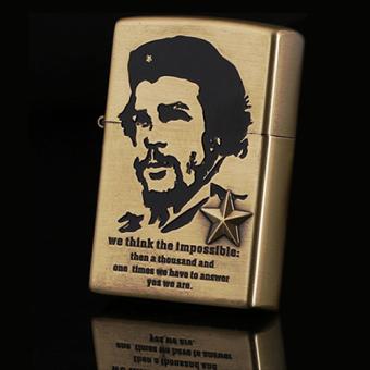 Bật lửa xăng chân dung Che Guevara (Vàng đồng)