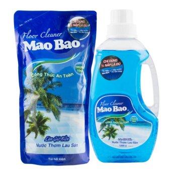Bộ 1 Chai Nước thơm lau sàn 1.2L và 1 túi nước thơm lau sàn 1L - Hương Làn gió biển