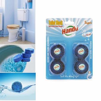 Vỉ 4 Viên tẩy xanh khử mùi và làm thơm Toilet TI0214