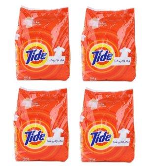 Bộ 4 túi bột giặt Tide trắng đột phá 720g