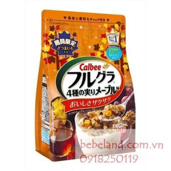 Ngũ cốc Calbee ( khoai lang, hạt óc chó, mâm xôi, nho)