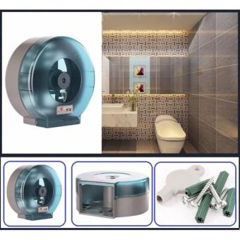 Hộp đựng giấy vệ sinh cao cấp kích thước 26x26 cm ( Xanh )