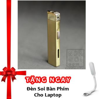Bật lửa khò rảnh tay siêu mỏng dolphin classic F561 (vàng) + Tặng đèn soi bàn phím cho laptop
