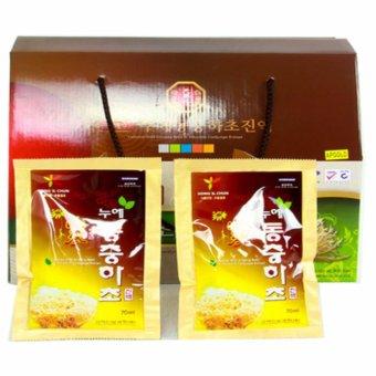 Nước hồng sâm núi và đông trùng hạ thảo Hàn Quốc 30 gói x 70 ml