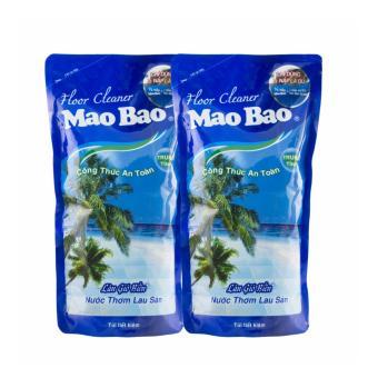 Bộ 2 túi nước thơm lau sàn Mao hương làn gió biển 1000ml