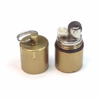 Bật lửa móc khóa mini đá xăng HY618 vỏ hợp kim (Vàng)