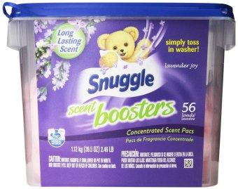 Hộp 56 Viên Nước Hoa Thơm Áo Quần Snuggle Laundry Scent Boosters, Lavender Joy, Tub, 56 Count (Mỹ)
