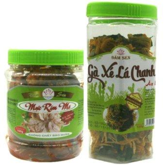 Bộ 02 món mực rim me đặc sản Phan Thiết 150g + gà xé lá chanh ăn liền 120g