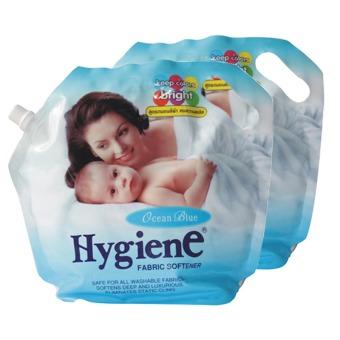 Bộ 2 Nước giặt xả đậm đặc Hygiene 1.8L (Xanh)