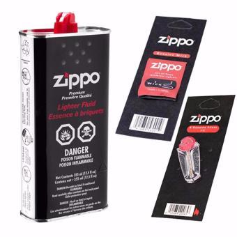 Bộ 3 món Xăng-Bấc-Đá bật lửa Zippo