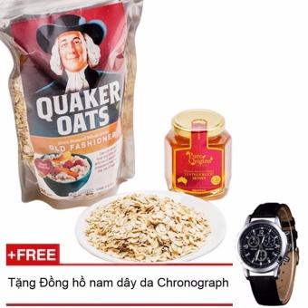 Bột Yến Mạch Quaker Oats 500g + Tặng đồng hồ nam dây da