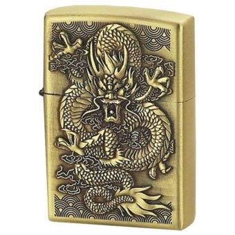 Bật lửa xăng hình rồng 2 (Vàng đồng)