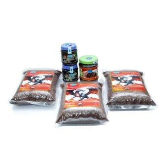 Mua Bộ 3 túi gạo lứt huyết rồng 2kg + 2 hộp mè đen 250g + 1 hộp gạo lứt huyết rồng rang 450g cho người ăn thực dưỡng Ohsawa giá tốt nhất