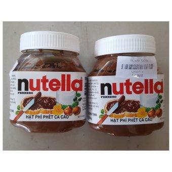 Bộ 2 Hộp Sô Cô La Hạt Phỉ Nutella Hazelnut Spread 200Gx2