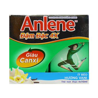 Bộ 6 Lốc 4 hộp Sữa Anlene đậm đặc 4x Canxi 110ml