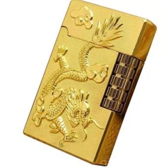 Bật lửa khắc rồng nổi CT327 (Vàng)