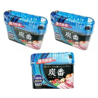 Bộ 3 Hộp khử mùi tủ lạnh than hoạt tính Kokubo Nhật Bản 150g