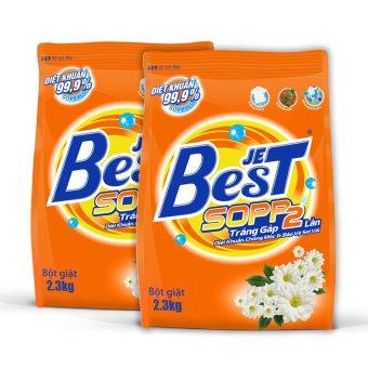 Bộ 2 gói bột giặt Jetbest 2.3kg