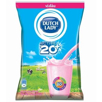 Thùng 48 bịch sữa tươi tiệt trùng Dutch Lady vị dâu 220ml