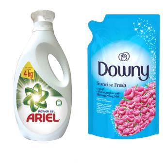 Bộ nước giặt Ariel đậm đặc 2L và nước xả Downy nắng mai 800ml