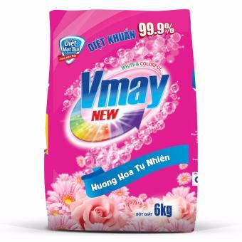 Bột giặt Vmay hương hoa 6.0kg