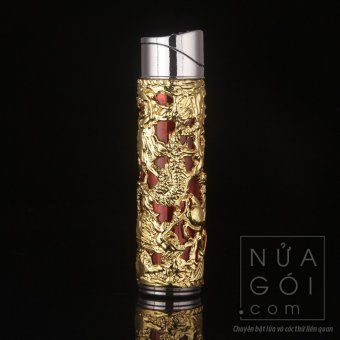Bật lửa khò kiểu Kim Long Trụ có đèn báo F547 (vàng)