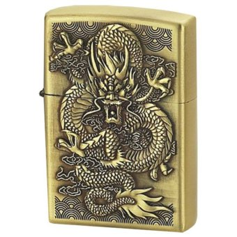 Bật lửa xăng đá hình rồng (Vàng đồng)