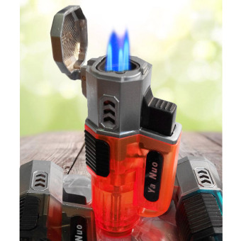 Bật lửa khò 3 tia lửa có nắp bật F26 (Xám)