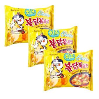 Bộ 3 Mì khô gà cay vị phô mai Samyang gói